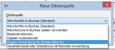 Diktierquelle Remote Microphone